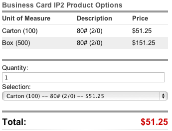 Unit of Measure instant price calculator illustration